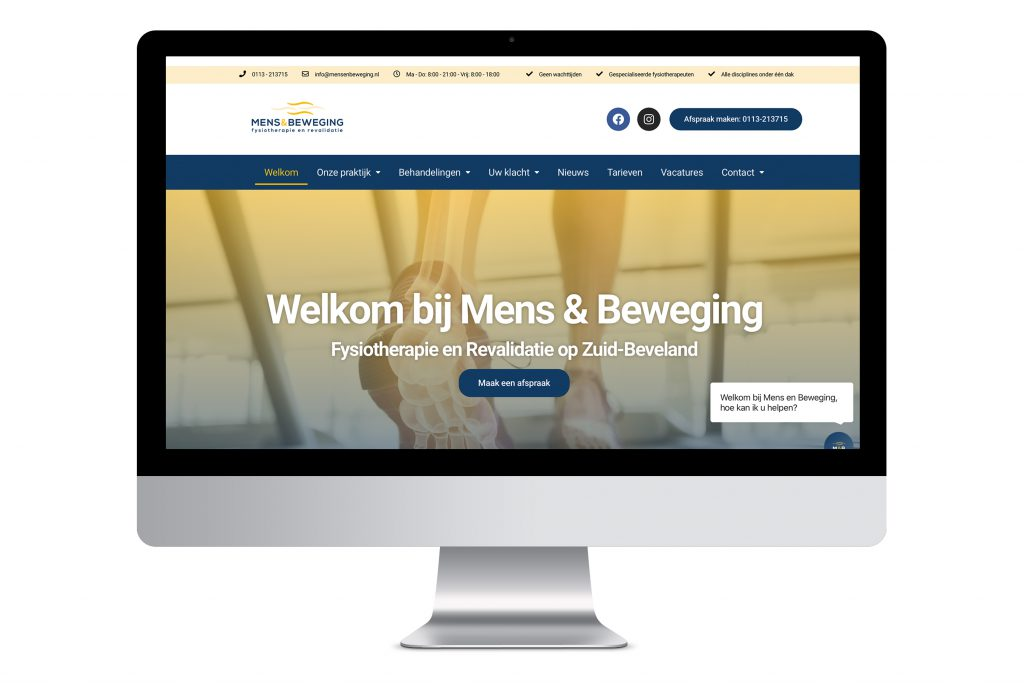 Mens en beweging website Origin Media